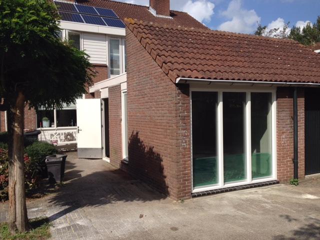 uitbouw garage kantoor